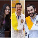 Tres exalumnos ganadores del DAMA AYUDA
