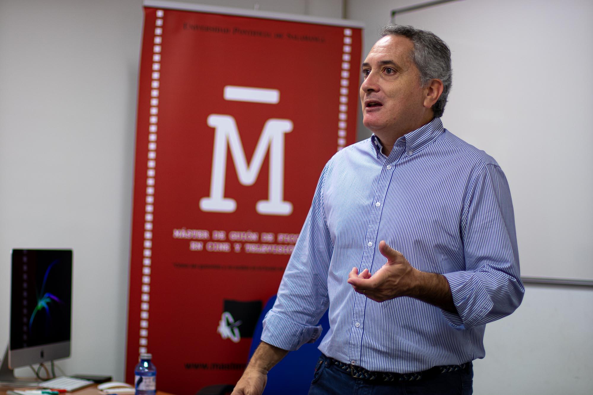 Antonio Sánchez Escalonilla imparte lección en el Máster de Guion