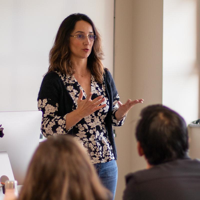 Marisa Fernández Armenteros. Profesora Máster Guion.