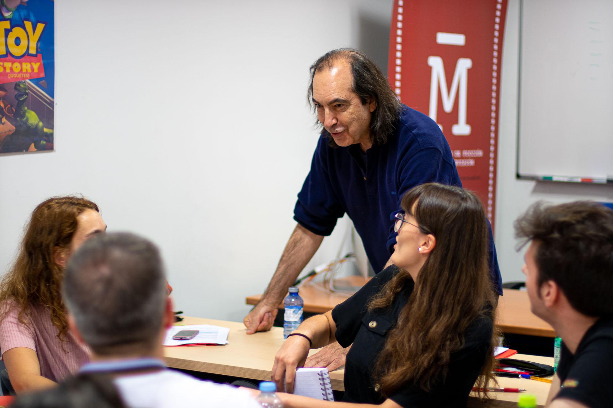 Valentín Fernández Tubau en el Máster de Guion