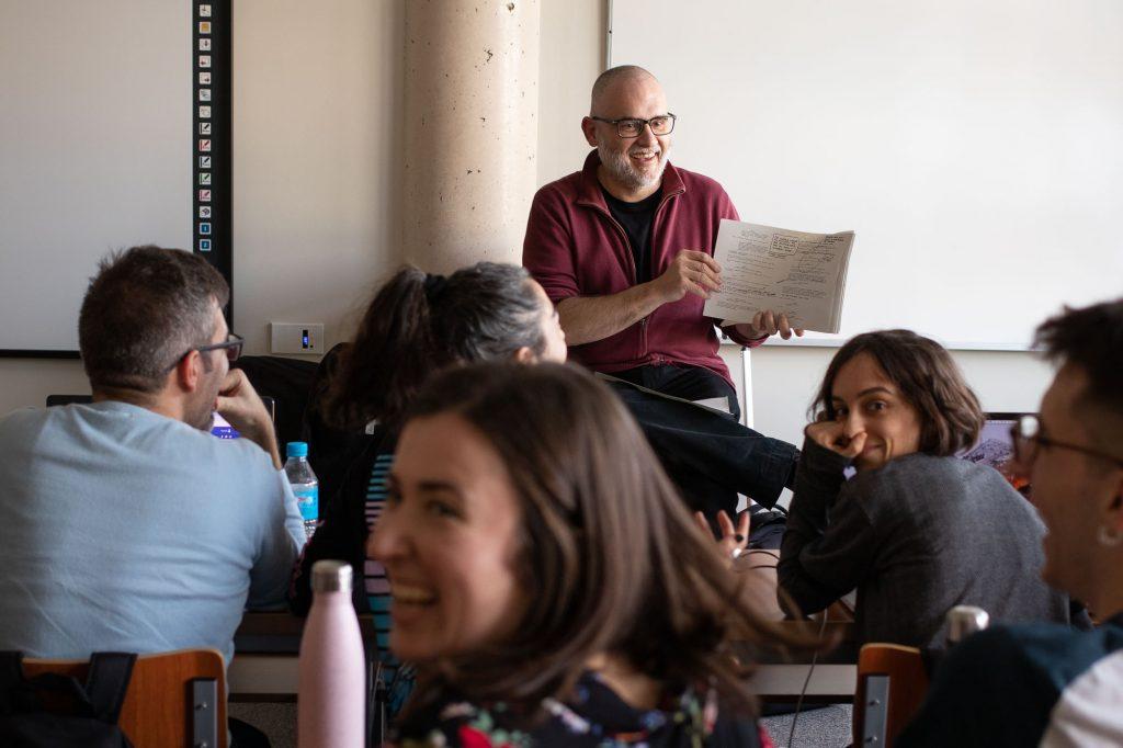 El guionista David Muñoz en el Máster de GUion